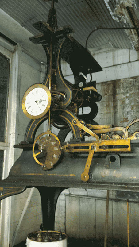 #3 E Howard Courthouse Tower Clock that is going to be restored by the The Tower Clock Company Phil Wright Owner