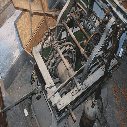 Seth Thomas Tower Clock before Preservation by the The Tower Clock Company